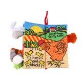Оптовая торговля детьми мягкой ткани Ярко раскрашенные деревянные тканью адресной книги