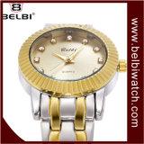 Belbin дамы досуг смотреть из нержавеющей стали является водонепроницаемым солнечной Net каменными плитками поверхности кварцевые часы