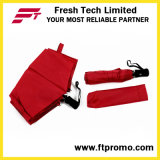 開いたカスタム昇進の自動車かロゴの閉じる折る傘
