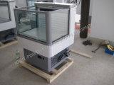 Novo Estilo vitrina frigorífica do compressor incorporado para bebidas de frutas de produtos hortícolas
