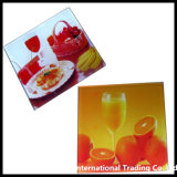 4mm conjunto de cristal claro Float Glass Coaster