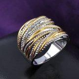 Anello dell'annata dei monili dell'agata della pietra del nero dell'anello di Marcasite