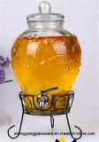 Distribuidor de vidro da bebida do frasco do armazenamento do suco do Sell quente com torneira