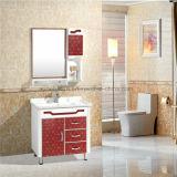 Nice vanité simple de salle de bains de PVC, Cabinet de salle de bains noir de PVC