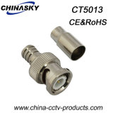 Male Crimp adaptador BNC CCTV para cable RG59 (CT5013)