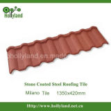 Hoja revestida del material para techos del metal de la piedra colorida (tipo de Milano)