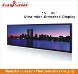 22 pouces étiré Bar ultra large de la publicité Media Player de signalisation numérique multimédia de réseau WiFi moniteur LED Affichage panneau LCD pleine couleur