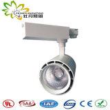 Luzes de pista de 30 W com adaptador de vias 3 e 5 anos de garantia e o LED de Ângulo pequeno via Luzes de foco