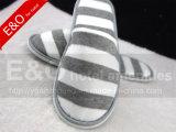 Algodão Terry Tecido Stripes Printing Hotel Room Slipper