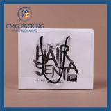 Bolso de papel blanco de la impresión negra de la alta calidad (CMG-MAY-028)