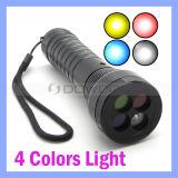CREE R2 weiße rote gelbe des Blau-4 Gleis-Taschenlampe Farben-Signal-des Röhrenblitz-LED AAA 18650