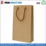 Sale Without Logo Print를 위한 120g Pure Kraft Paper Bags