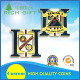 La pièce de monnaie personnalisée d'enjeu avec évident à l'extérieur et la police Badge le modèle