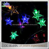20 LED-bunte Solargarten-Beleuchtung und Solar-Zeichenkette-Lichter der LED-Zeichenkette-Licht-Schneeflocke-Form-LED
