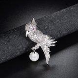 CZ Crystal Corea aves animales Broche Perla Bisutería