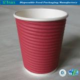 taza de papel de la ondulación 8oz/12oz para la bebida caliente