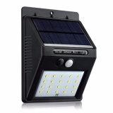 20 светодиодный индикатор использования солнечной энергии для использования вне помещений под руководством PIR водонепроницаемый чрезвычайной настенный светильник