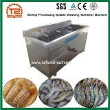 泡洗浄の滅菌装置機械を処理しているエビ