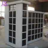 Shanxi Columbarium ronde de granit noir pour la personne décédée