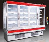 Refrigerador vertical de la visualización de la puerta de cristal de Multideck