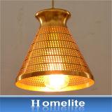 De Metal Colgante de oro chapado de arte de la luz para interiores