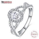 925 серебристые с овальными драгоценными камнями кольцо (Шри-0014-B)