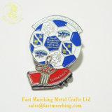 印刷されるカスタム磁気錫ボタンの安全はフットボールの金属のバッジをからかう