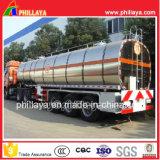 3axles 물 또는 기름 우유 판매를 위한 알루미늄 유조선 트레일러