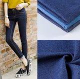 70% de algodão 28% de poliéster 2% Elastano Lycra Jeans Stretch Denim