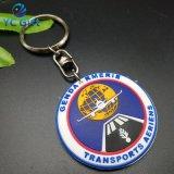 Bon marché en matière plastique personnalisé en PVC de chaîne de clé en caoutchouc pour cadeau souvenir (KC-P43)