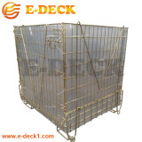 Boîte de maillage de préformes PET d'entrepôt sur le fil métallique de la cage Bin pour le transport de conteneurs de stockage