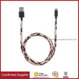 Padrão de couro personalizado Leopard Impresso Cabo USB para carregamento móvel