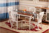 Solidwood que jantam a tabela retangular da mobília e as cadeiras ajustaram-se