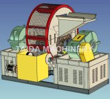 Gomma residua utilizzata automatica che ricicla la tagliatrice di gomma della smerigliatrice della taglierina del frantoio della trinciatrice