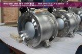 Les robinets à tournant sphérique gauches segmentés de V Pn16/Class150 dans Wafer&Flange termine Wcb/CF8m