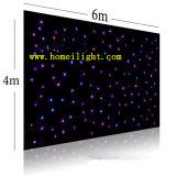 Cortina de la estrella del RGB de la tela de la estrella del LED para la exhibición de la boda