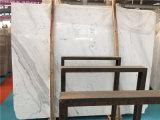 Marmeren Witte Volakas 18mm Tegel van de Plak van de Dikte