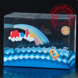 Caja de plástico transparente animal de compañía para Mascara de crema de paquete