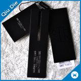 Papel negro Hangtag 3PCS con la etiqueta de la junta