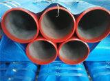 Tubo d'acciaio verniciato rosso medio chiaro di lotta antincendio di Sch10 Sch40
