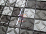 Graue und silberne Kristallglas-Mosaik-Fliese der Farben-3D (CFC684)