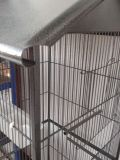 "61 ""Large Parrot Bird Cage Top Pet Supplies W / Perch Stand Duas portas Iron Birdcage"
