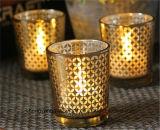 Palillo de cristal de la vela de los sostenedores de vela del regalo de la venta de la dimensión de una variable caliente promocional de la calabaza