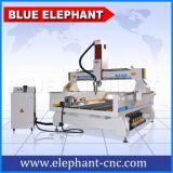 Machine de découpage rotatoire Z d'axe élevé de l'axe 4 d'Ele-1325 pour les meubles en bois, forces de défense principale, PVC, carte, acrylique
