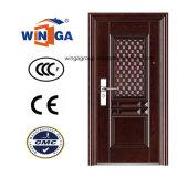 鉄の外部の金属の機密保護の鋼鉄ドア(W-S-114)を使用してWindows Shool