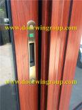 Laminado de Doble/Triple Ventana corrediza de vidrio templado, acabado en color madera Ventana corrediza de aluminio para la casa