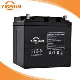 A fábrica vende diretamente a bateria acidificada ao chumbo solar preta de 12V 24ah