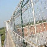 Belüftung-überzogener Stacheldraht-Zaun (einzeln, doppelt, Typ mit drei Torsionen)