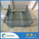 Cage compressible de palette de cage de bâti de maille