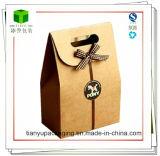 La clásica bolsa de papel Kraft marrón/bolsa de regalo de Navidad